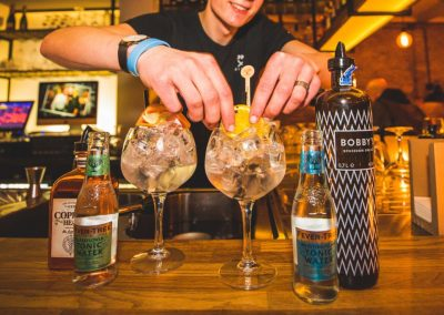 Gin tonic bij Bar & Bistro BRINK20 in Laren
